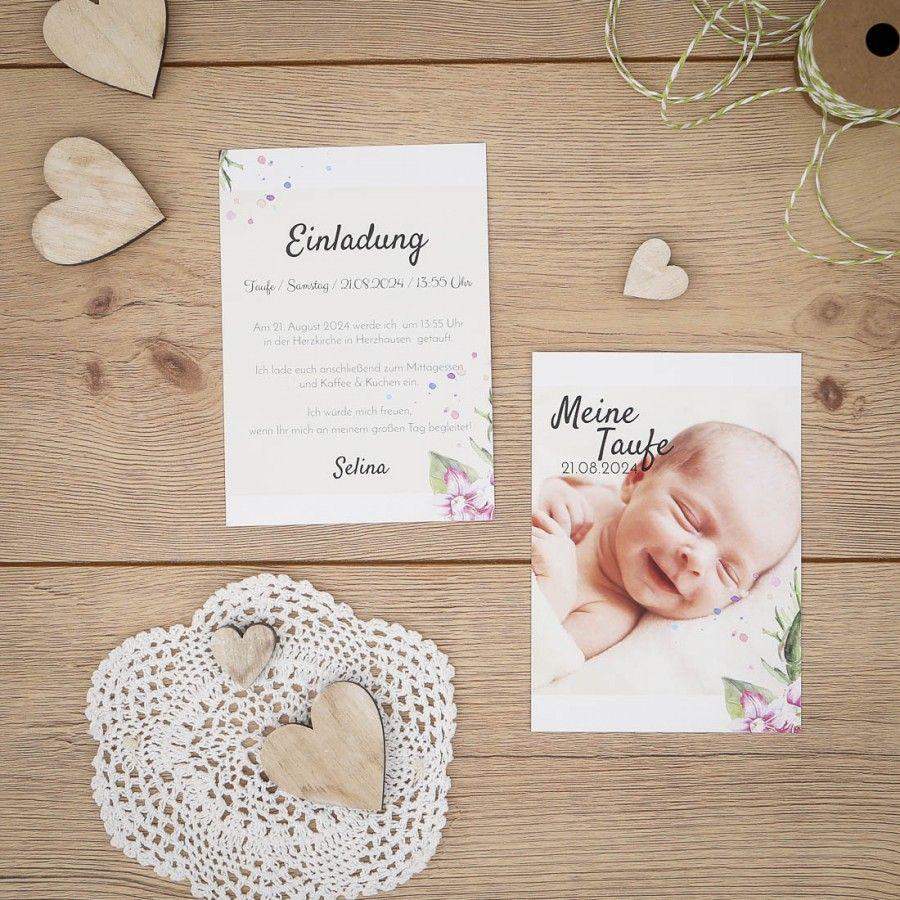 Elin | Einladung Zur Taufe #taufe #einladungskarte #papeterie #karte # Einladung