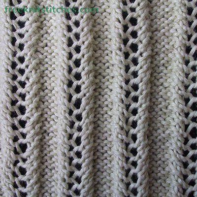 Knitting Stitch Patterns -- Rib Stitches -- Lace Rib 3 ...