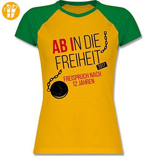 Abi & Abschluss - Abi 2017 Ab in die Freiheit - XL - Gelb/Grün