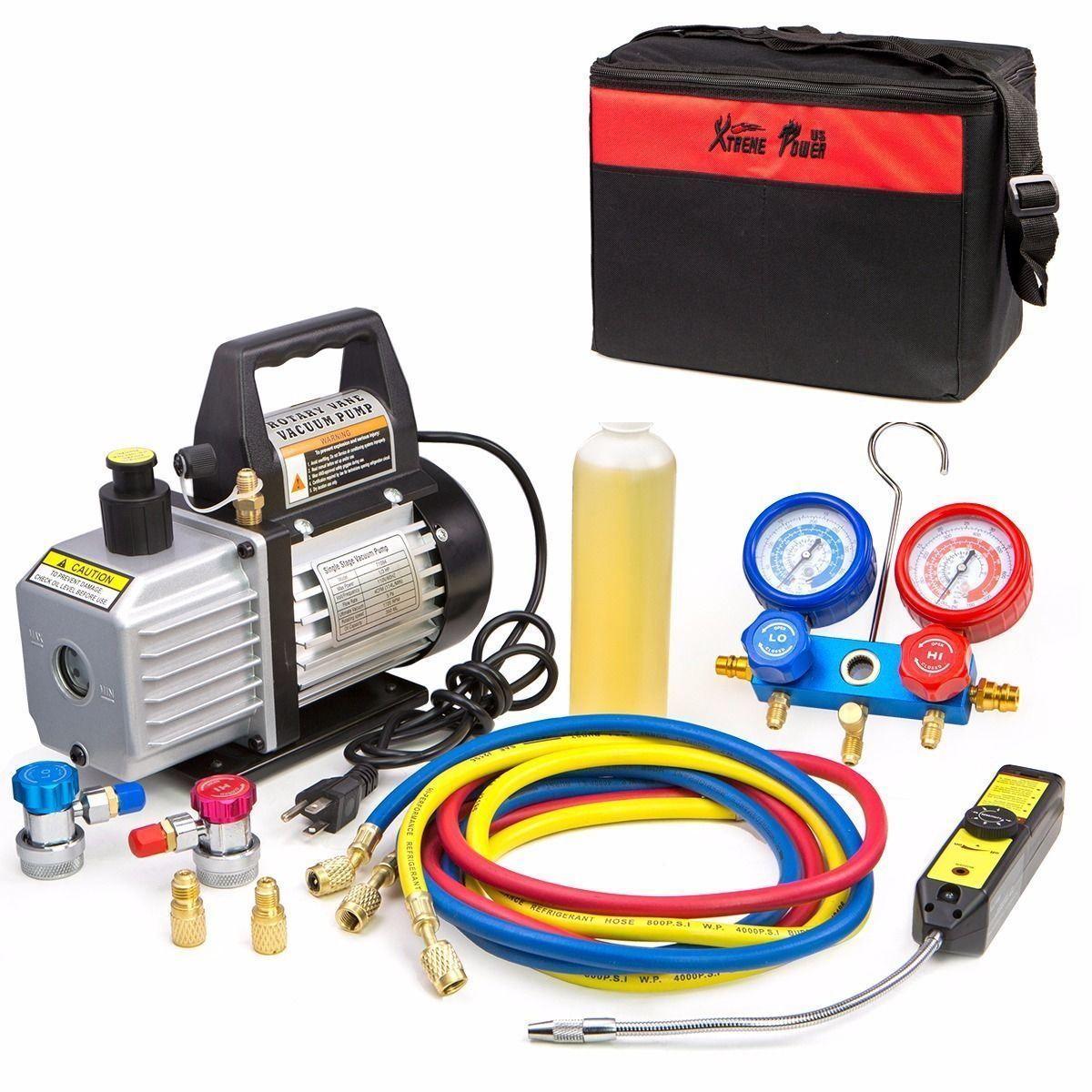 4CFM Vacuum Pump HVAC Refrigeration AC Manifold Gauge r134
