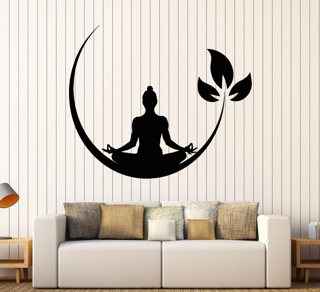 Vinyl Wall Decal Yoga Meditation Room Buddhist Zen Stickers - How to make vinyl wall decals with silhouette