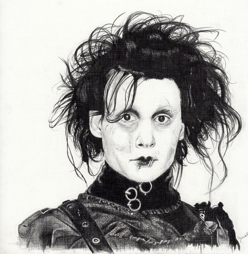 Edward Scissorhands Johnny Depp Tim Burton Movie Pencil