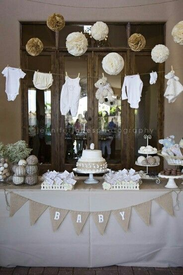 Vintage Theme Baby Shower Vintage Burlap Baby Showers