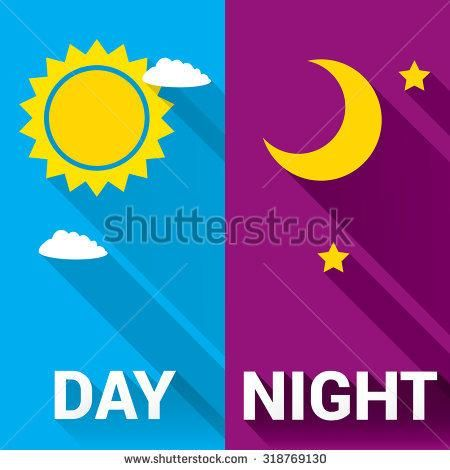 Image result for day and night vector