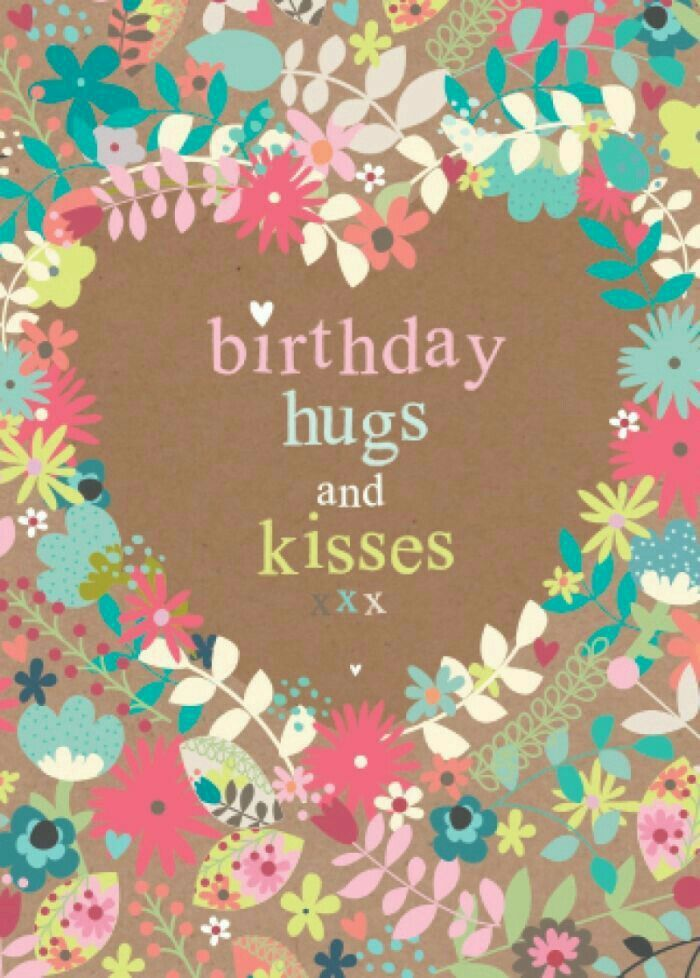 Vintage Shabby Chic Floral Burlap And Flowers Happy Birthday