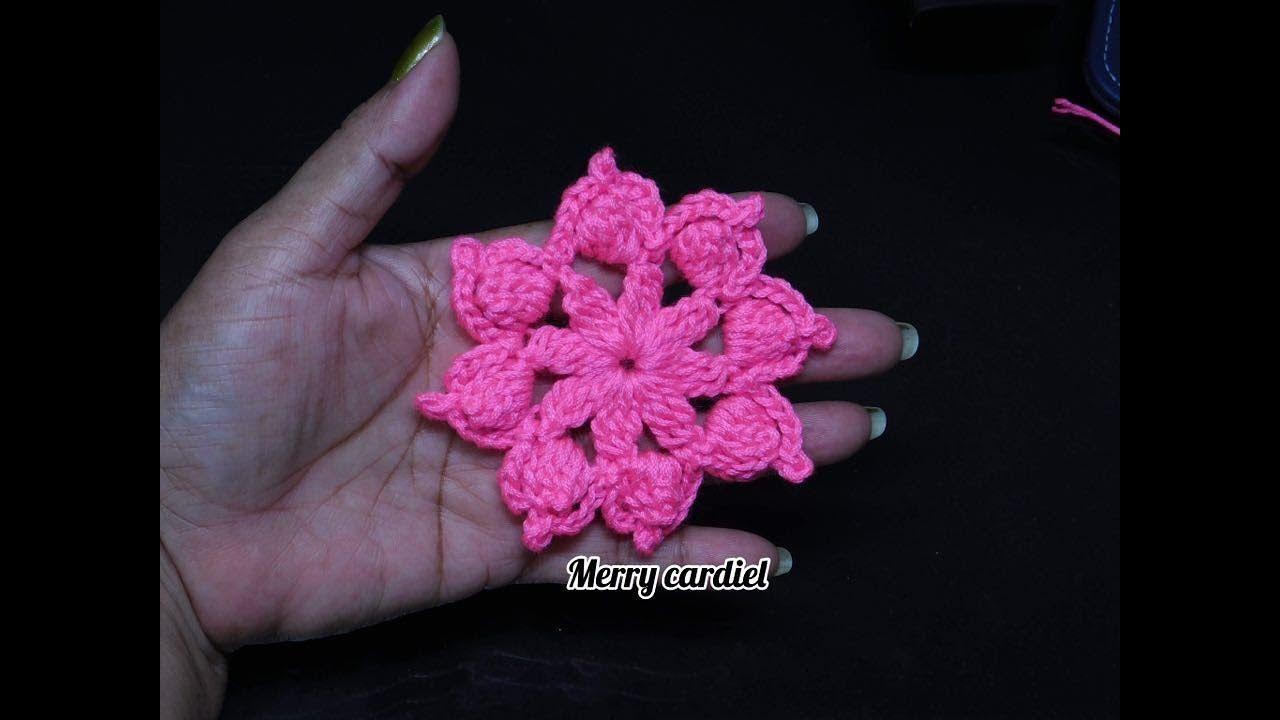 FLOR DE GRANNY crochet   MERRY CARDIEL   Pinterest   Flor, Youtube y ...