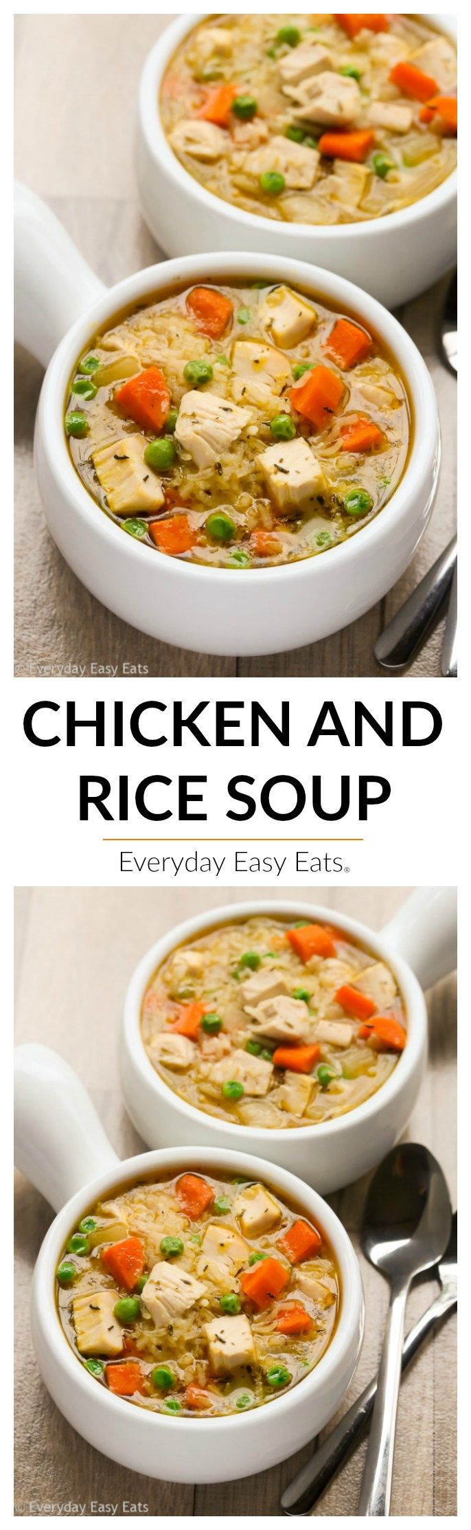 One Pot Chicken And Rice Soup Recipe Food Recipes Easy