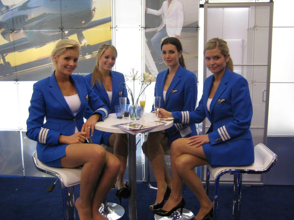 Air hostess airplane