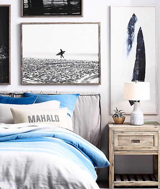 White Bedroom Bin Teenage Bedroom Decor Tumblr Bedroom Paint Ideas Girls Soothing Bedroom Color Schemes: Life's A Beach. Black-and-white Surf Photography.