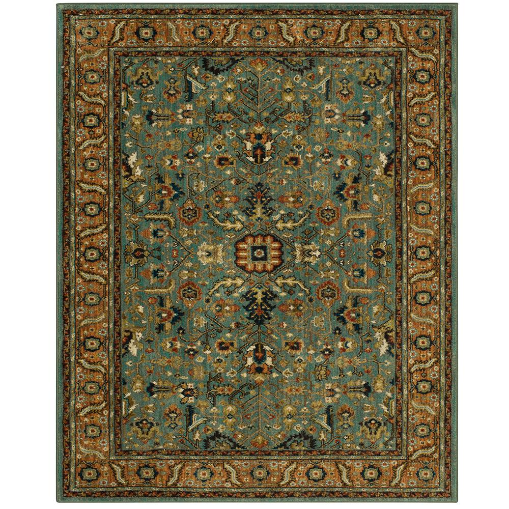 Home Decorators Collection Mariah Aquamarine 10 Ft X 13 Ft Area Rug 653118 The Home Depot Area Rugs Rugs Mediterranean Rugs