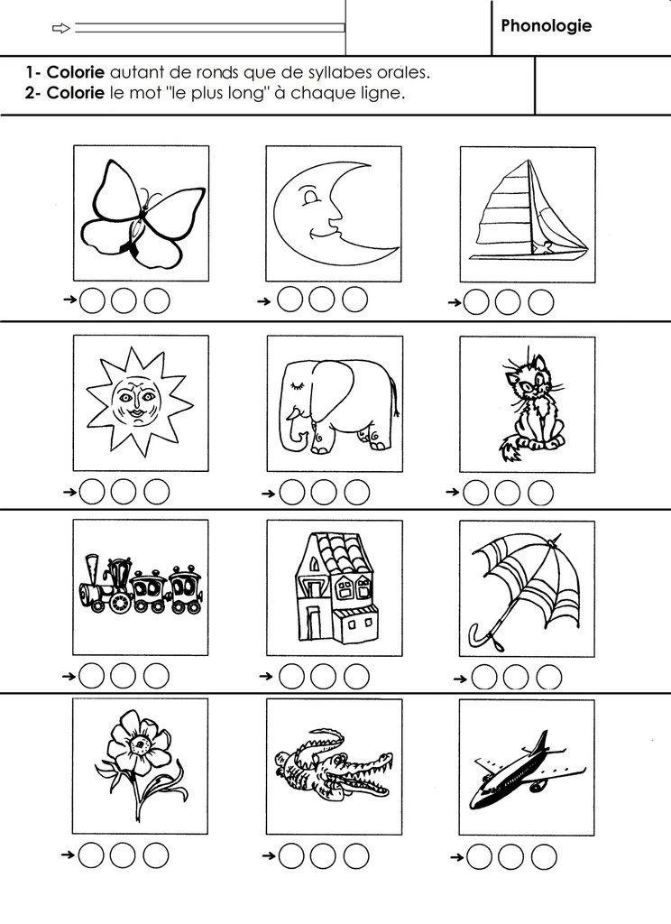 Phonologie Grande section: comparer le nombre de syllabes ...