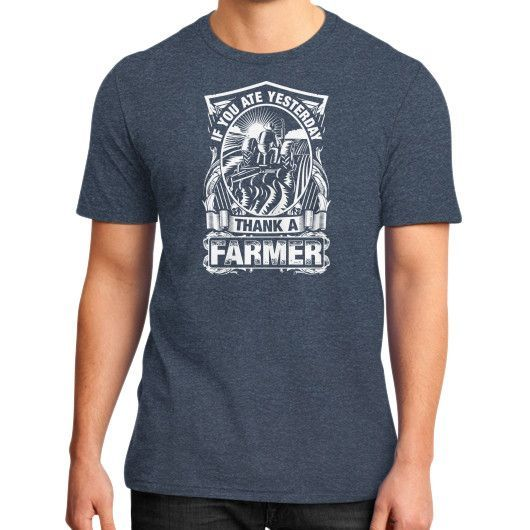 THANK A Farmer District T-Shirt (on man)