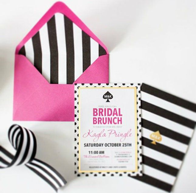 20 kate spade-inspired bridal shower ideas for the chic bride, Wedding invitations