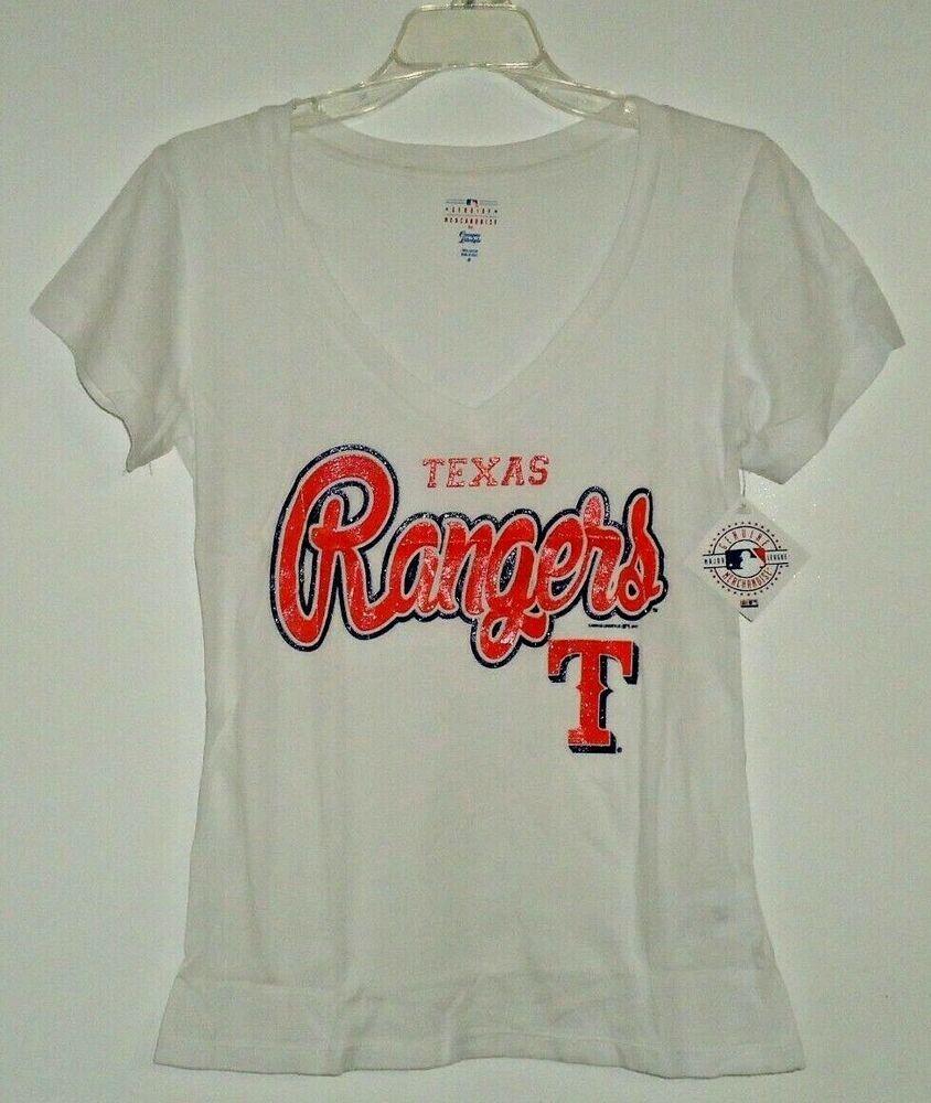 Women S Texas Rangers Baseball Team V Neck T Shirt Glitter Graphics Size Medium Ebay Team V V Neck T Shirt Clothes For Women