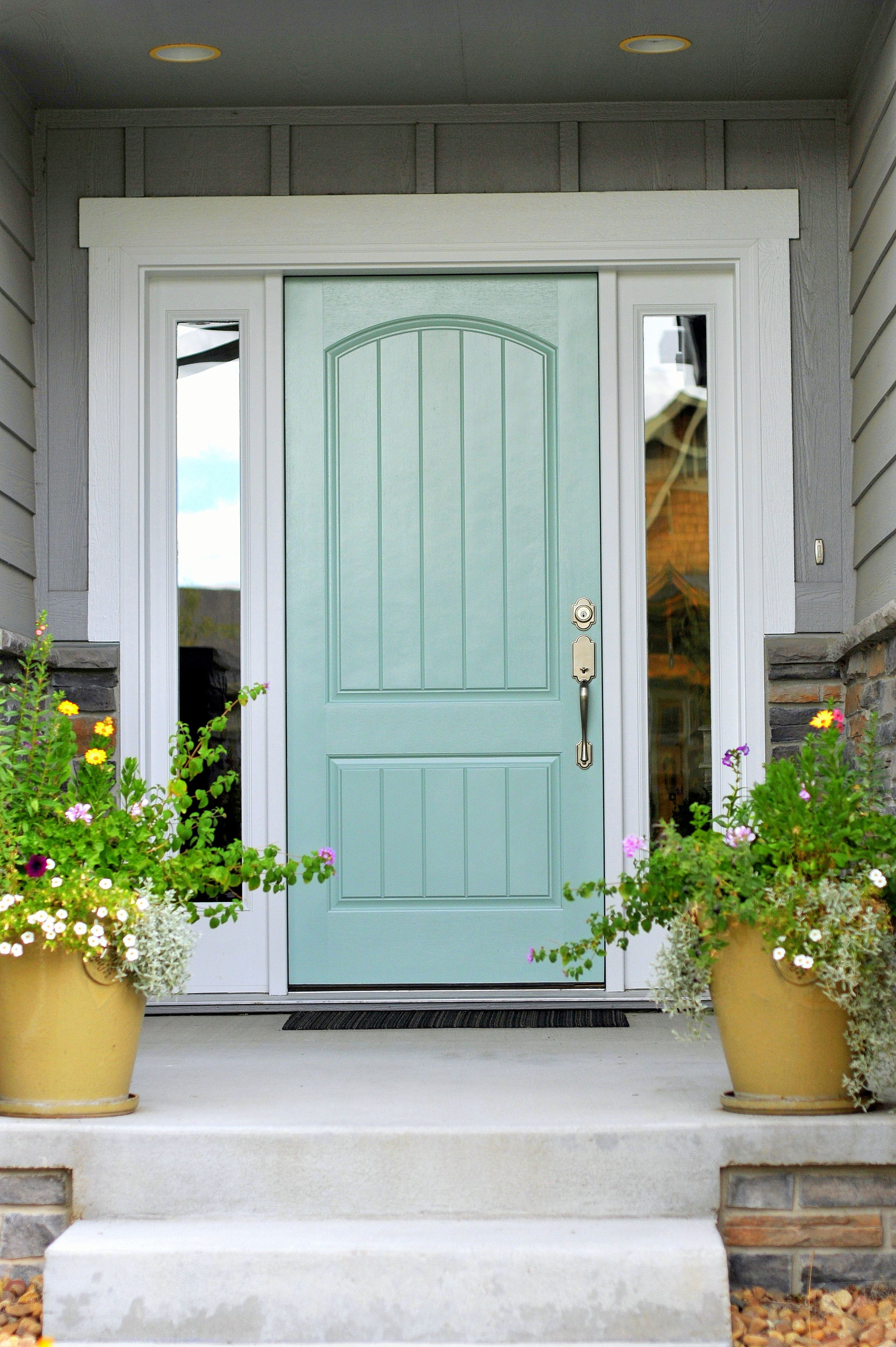 Suburban Es Front Door In Benjamin Wythe Blue