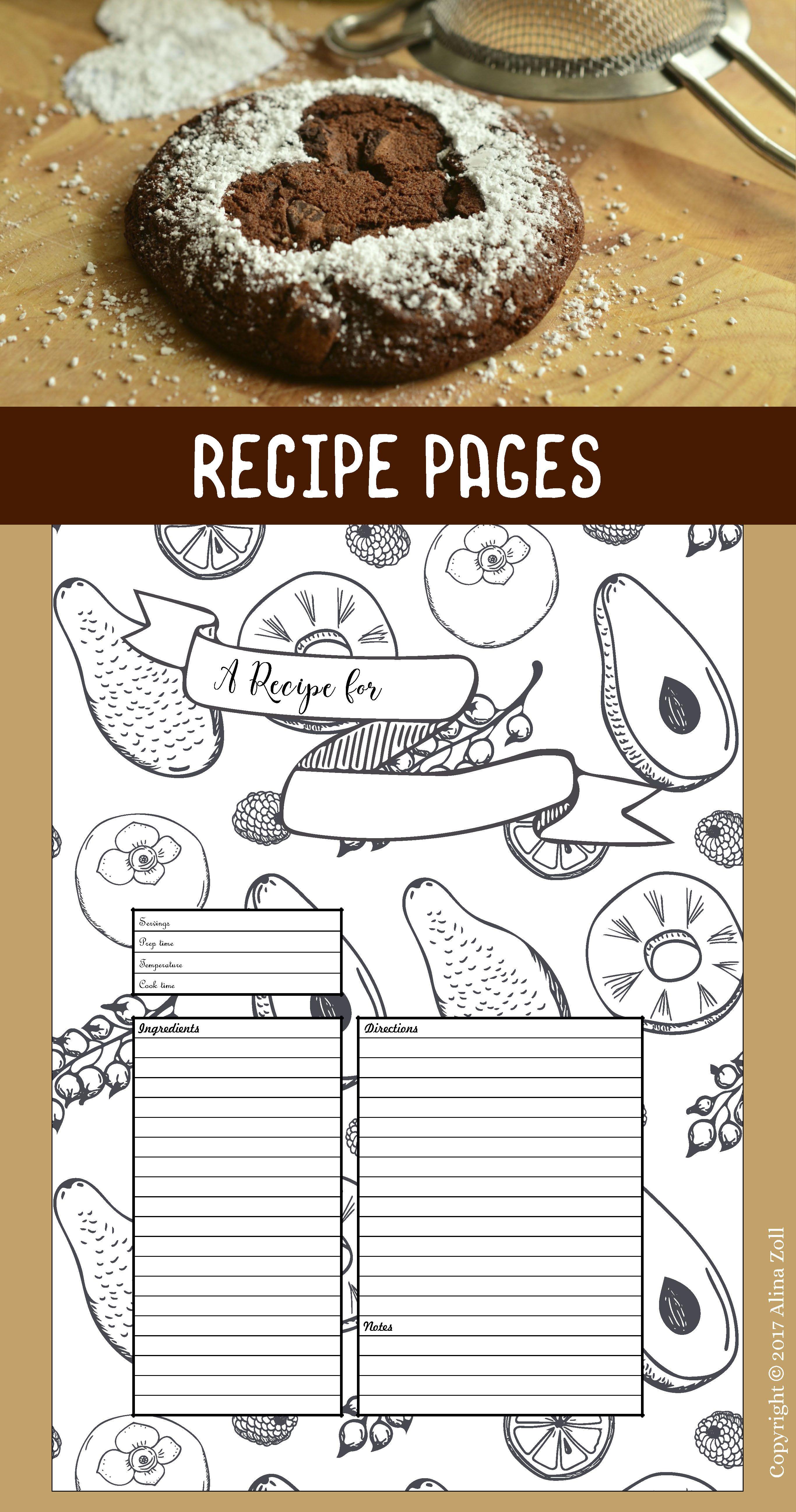 a4 recipe card template fun recipe page template 8 x 11