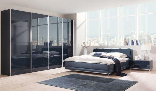Schlafzimmer Swarovski ~ Wellemöbel chiraz doppelbett pol sterbett blau mit swarovski