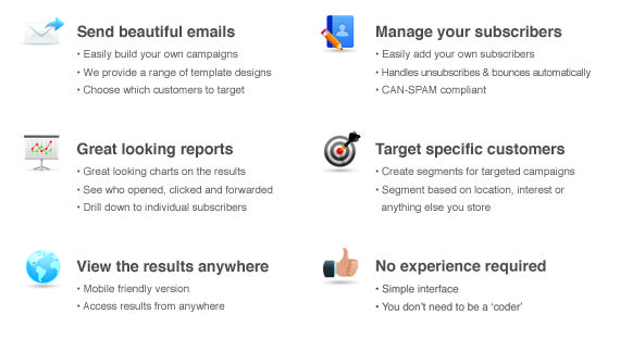 Easily build an email campaign here - http://www.cg2creative.com/email-marketing