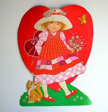 Vintage Eureka USA Valentine's Day Diecut Cardboard Decoration Die Cut Outs card