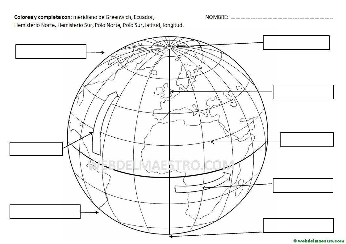 Paralelos Y Meridianos Informacion Y Actividades Ensenanza De