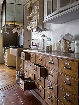 Apothecary Kitchen SUch A Cool Idea Imagine The Utensil Storage And Junk Drawers