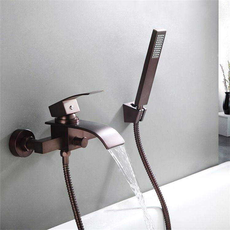 浴槽水栓 壁付水栓 シャワー水栓 ハンドシャワー付き 真鍮 Orb シャワー水栓 浴槽 水栓