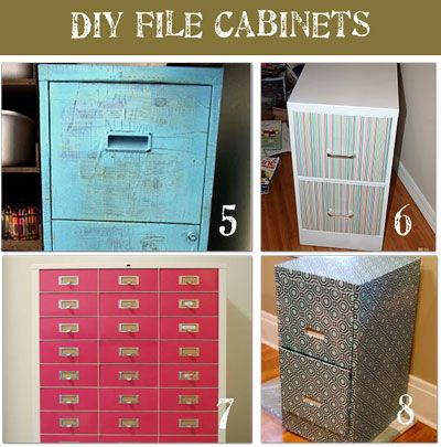 8 File Cabinet Makeovers {Drab To Fab!}