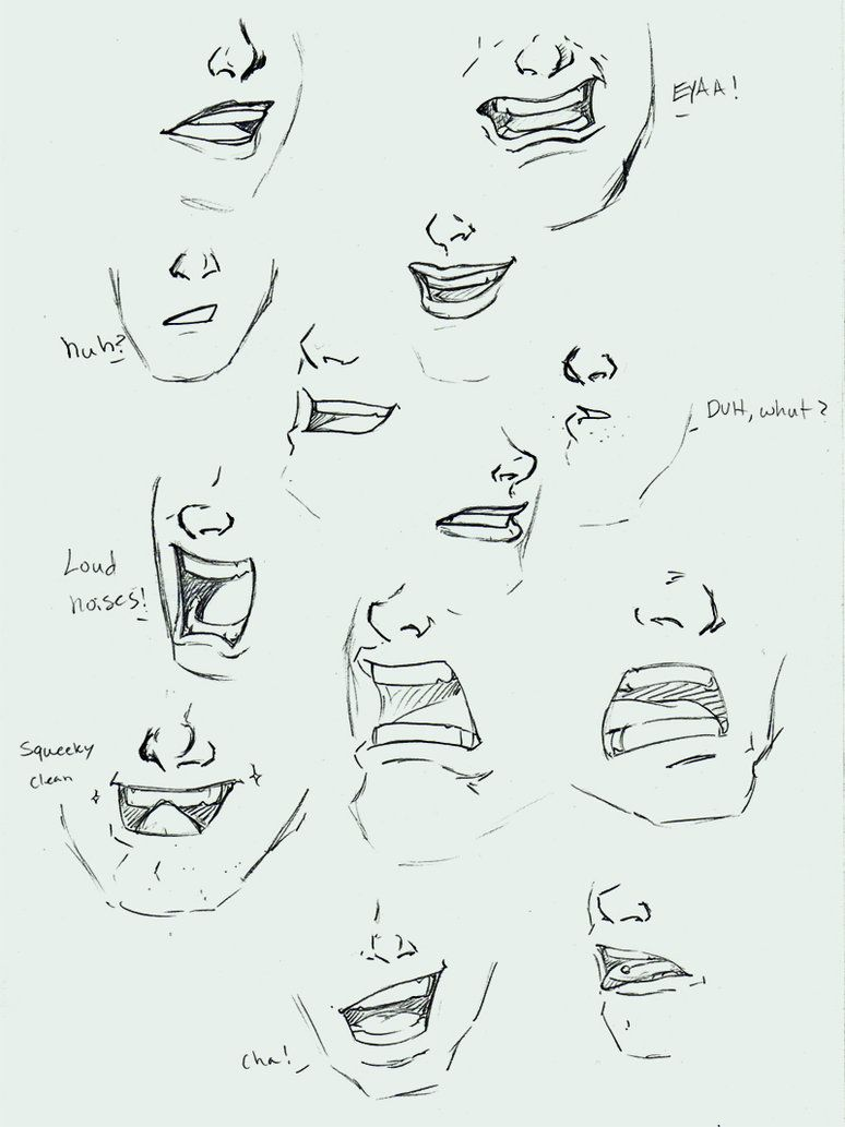 Expressions - mouths by RogueRider on DeviantArt