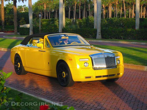 Rolls Royce In Giallo Ferrari Spoken Palm Beach