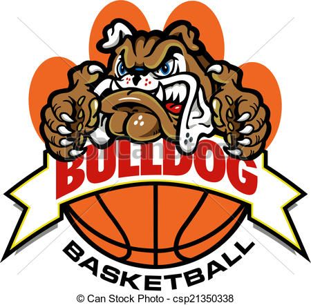 vector bulldog basketball banner design stock illustration rh pinterest co uk free bulldog clipart images free french bulldog clipart