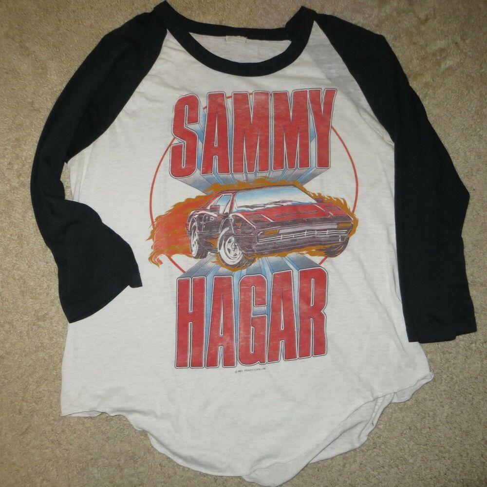 Vintage Original Sammy Hagar I Can T Drive 55 1984 Concert Tour T Shirt Xl Toursportswear Raglan In 2020 Tour T Shirts Vintage Tshirts Red Rocker