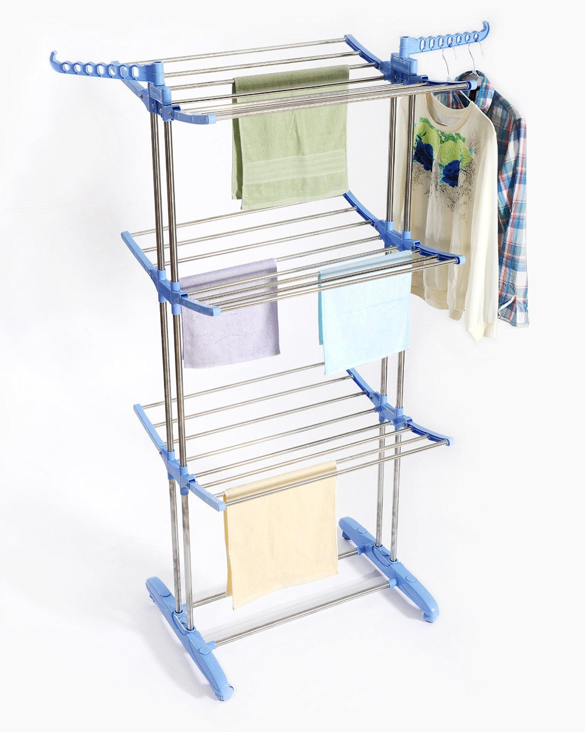 Amazon.com: Premium Clothes Drying Rack Stainless Steel Foldable Heavy  Duty, Portable,