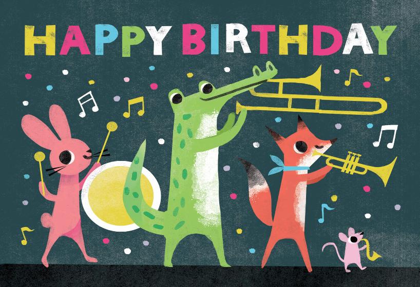 Party Parade Birthday Card Free Greetings Island Birthday Cards Cards Happy Birthday Cards