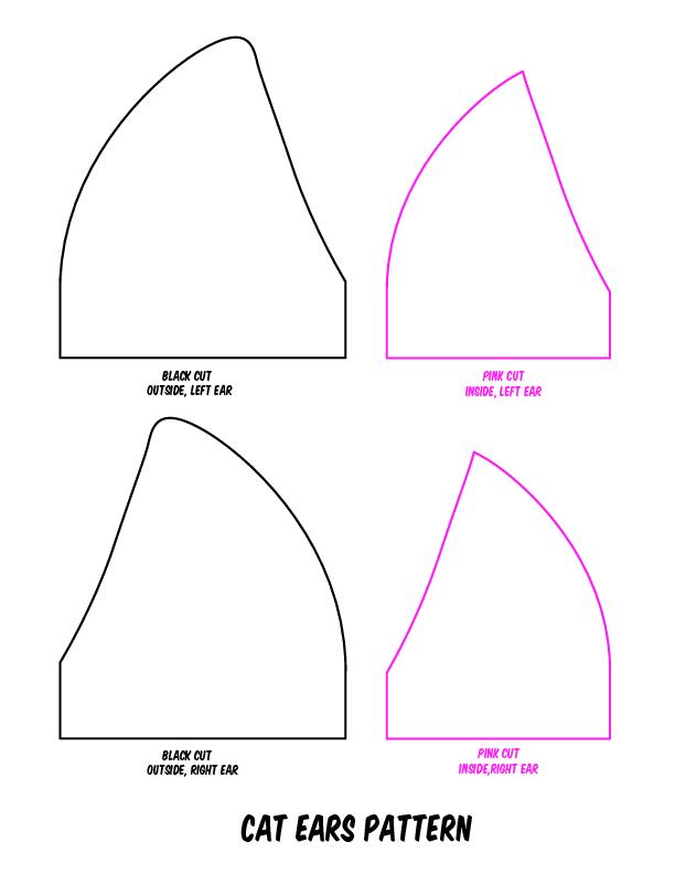 Dog Ear Pattern : pattern, Printable, Template, Disney, Ears,, Headband