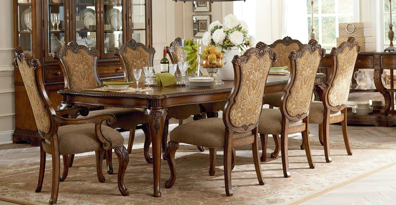 Legacy Classic Pemberleigh Leg Dining Set with Upholstered Chair ...