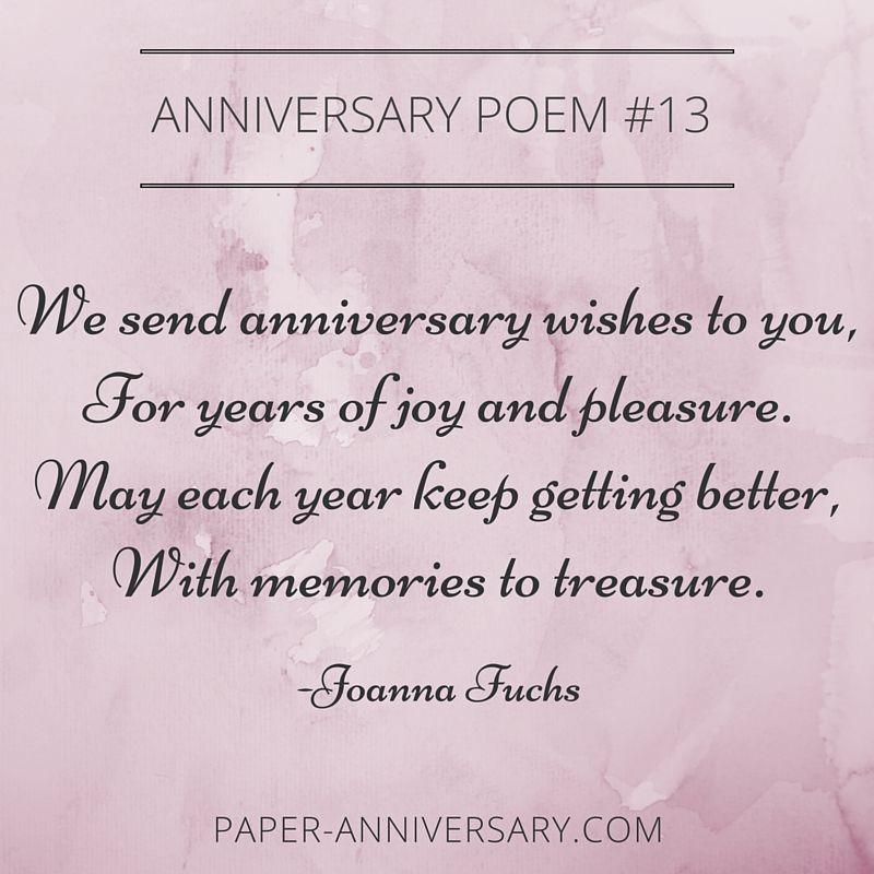 13 Beautiful Anniversary Poems To Inspire Anniversary Poems