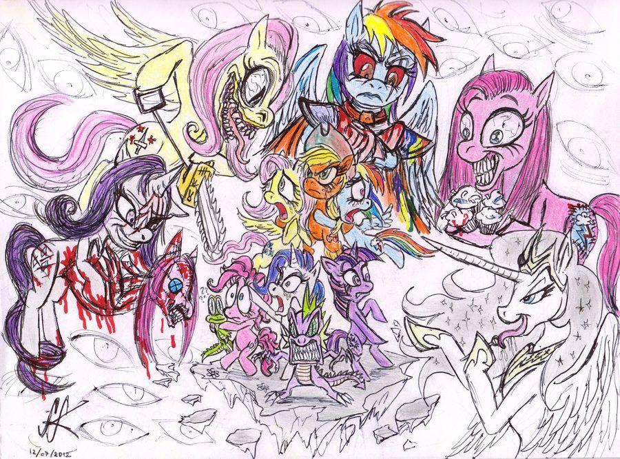 My Little Pony Villainy Is Horrific By Devilkais On Deviantart My Little Pony Art Pony