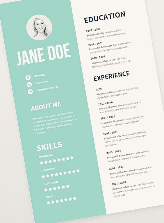 Free Resume Template Pack Misc Pinterest    buffly - resume 1 page