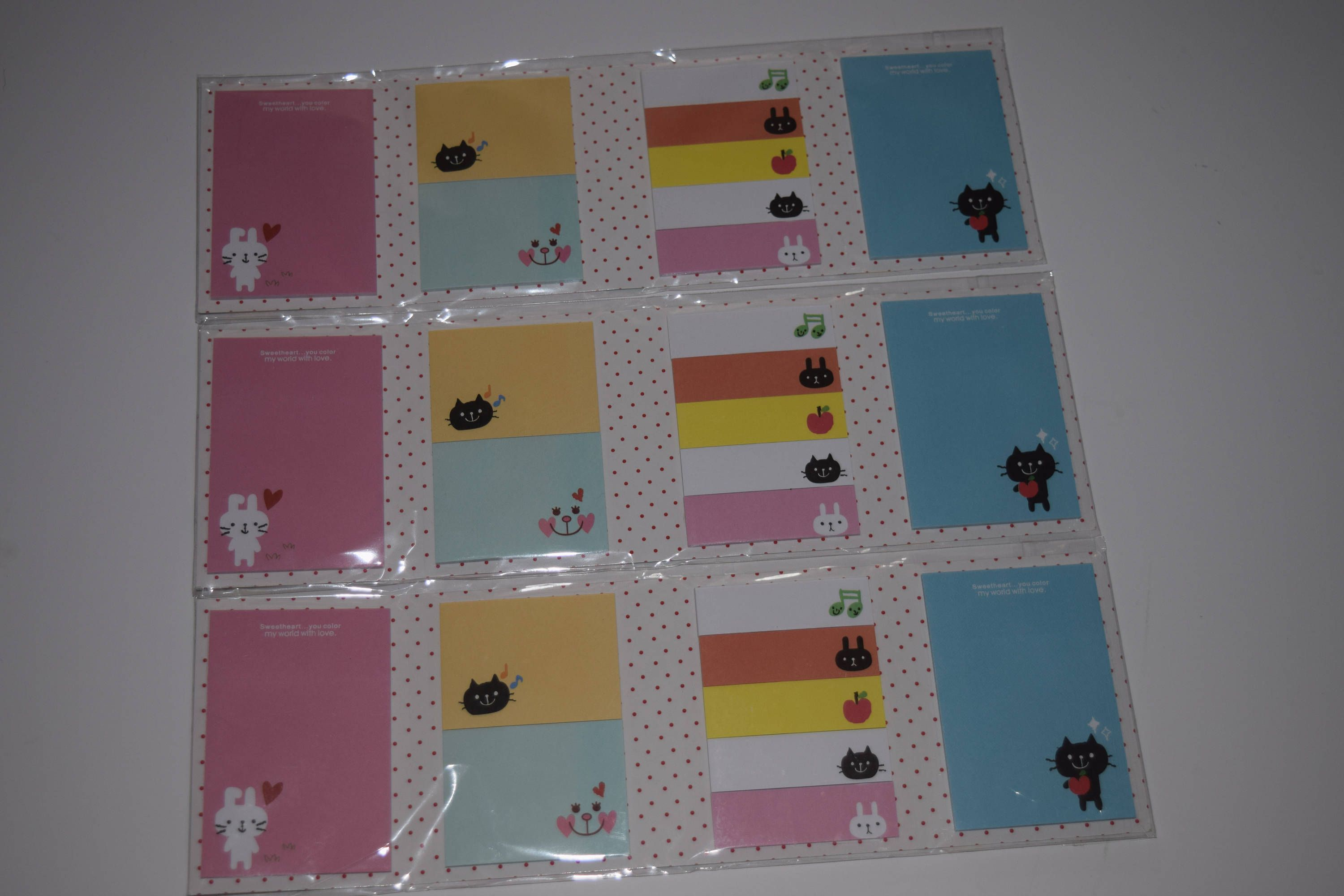 sticky note tri folds page markers page flags colorful note taking