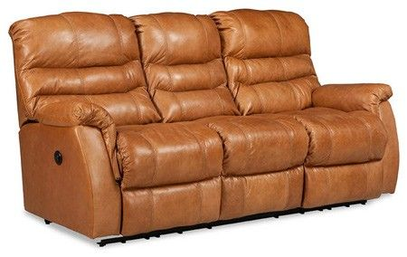 Lane Furniture Garrett Leather Double Reclining Sofa w Power 328