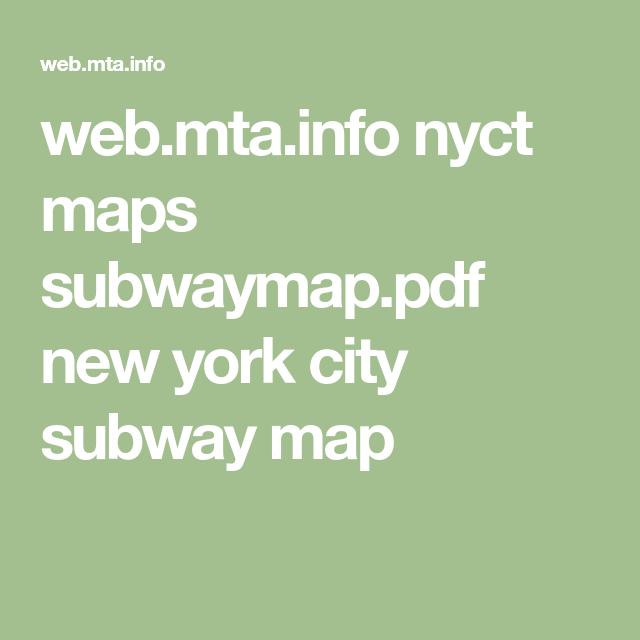 web.mta.info nyct maps subwaymap.pdf new york city subway map ...