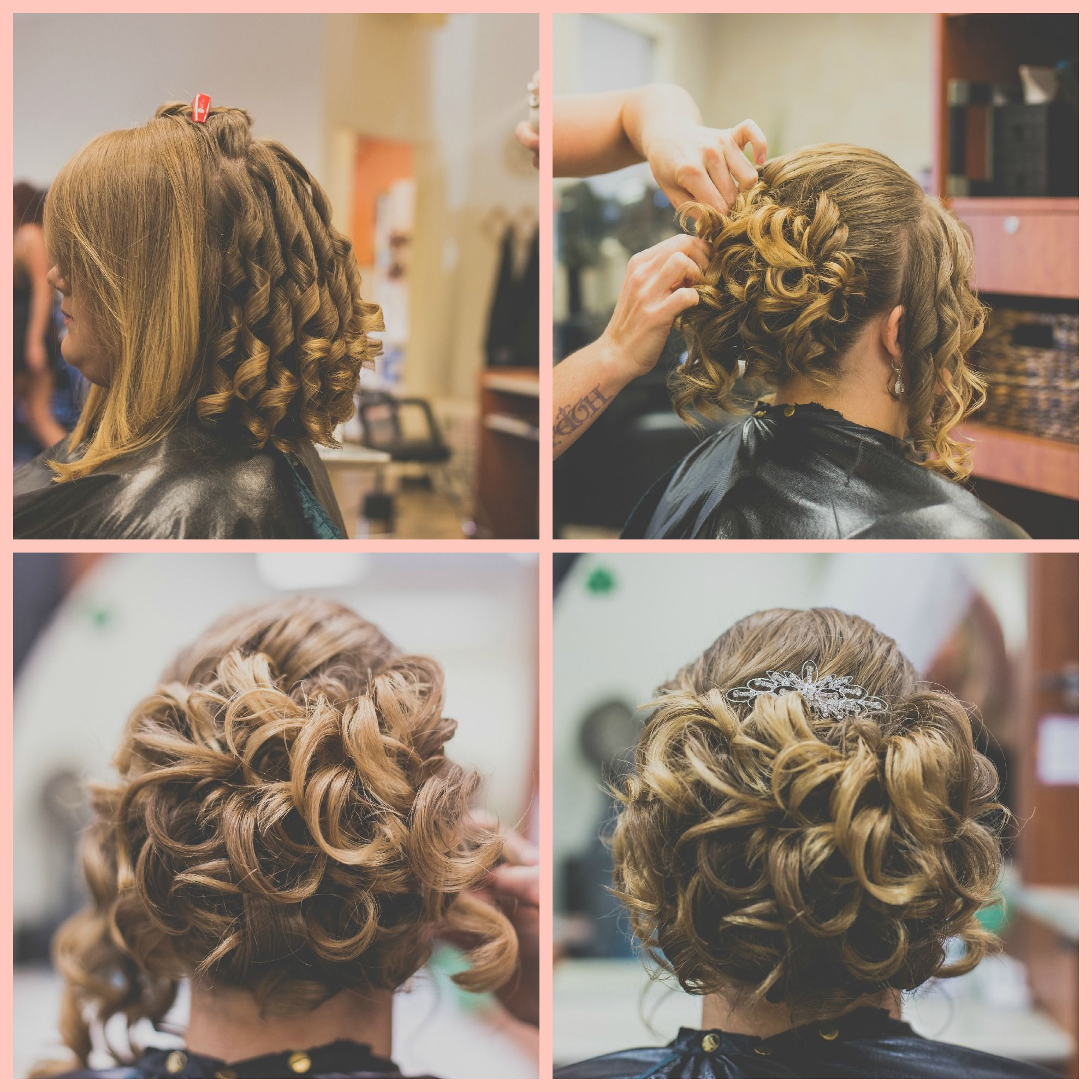 Wedding Hair. Up-do For Short Shoulder Length Hair