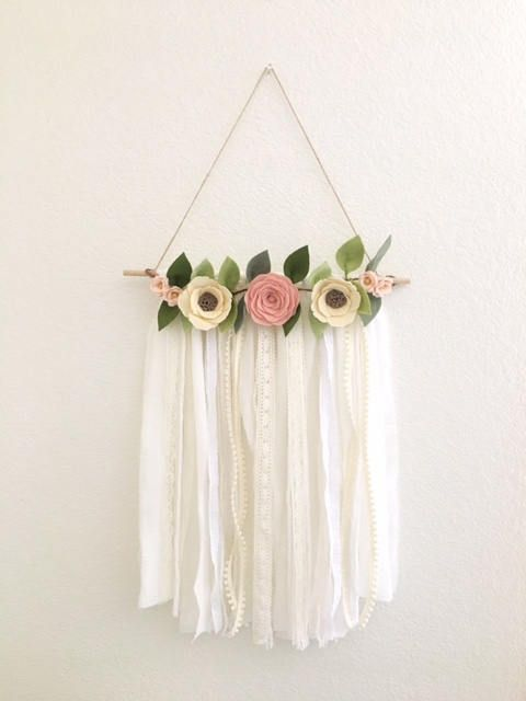 Shabby Chic Wall Hanging Handmade To Order Out Of Wool Blend