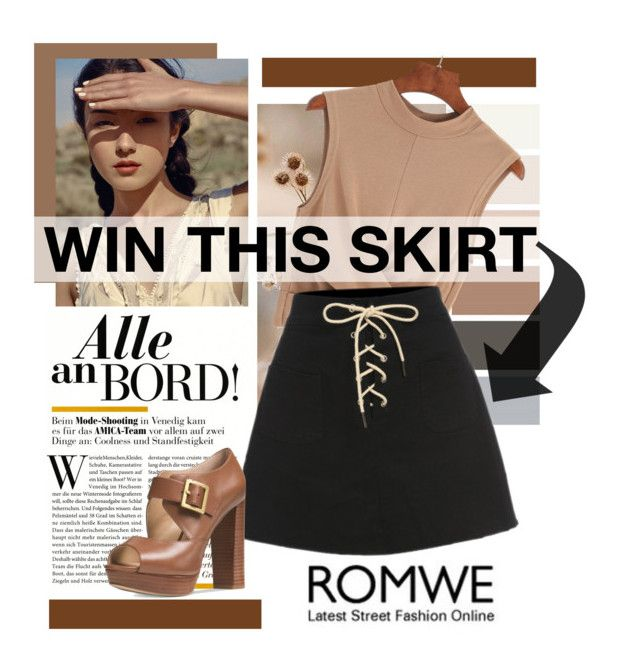 """WIN ROMWE SKIRT"" by zeljanadusanic ❤ liked on Polyvore featuring Michael Kors"