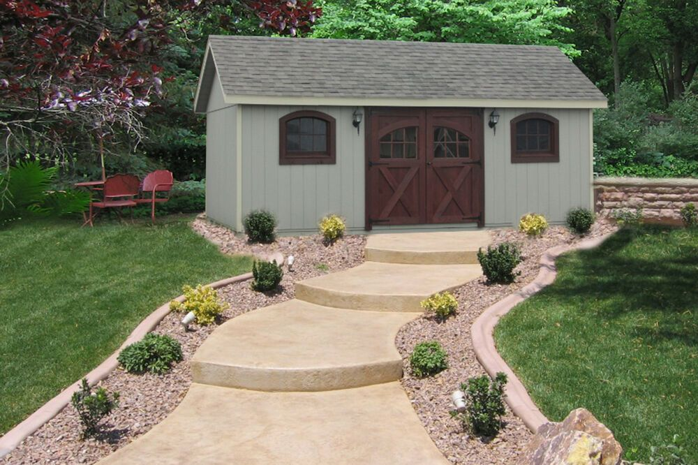 Amish Built 12 X 20 A Frame Wood Storage Shed With Garden Carriage Package Ebay Backyard Storage Sheds Wood Storage Sheds Shed