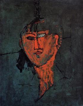 A Head - Amedeo Modigliani