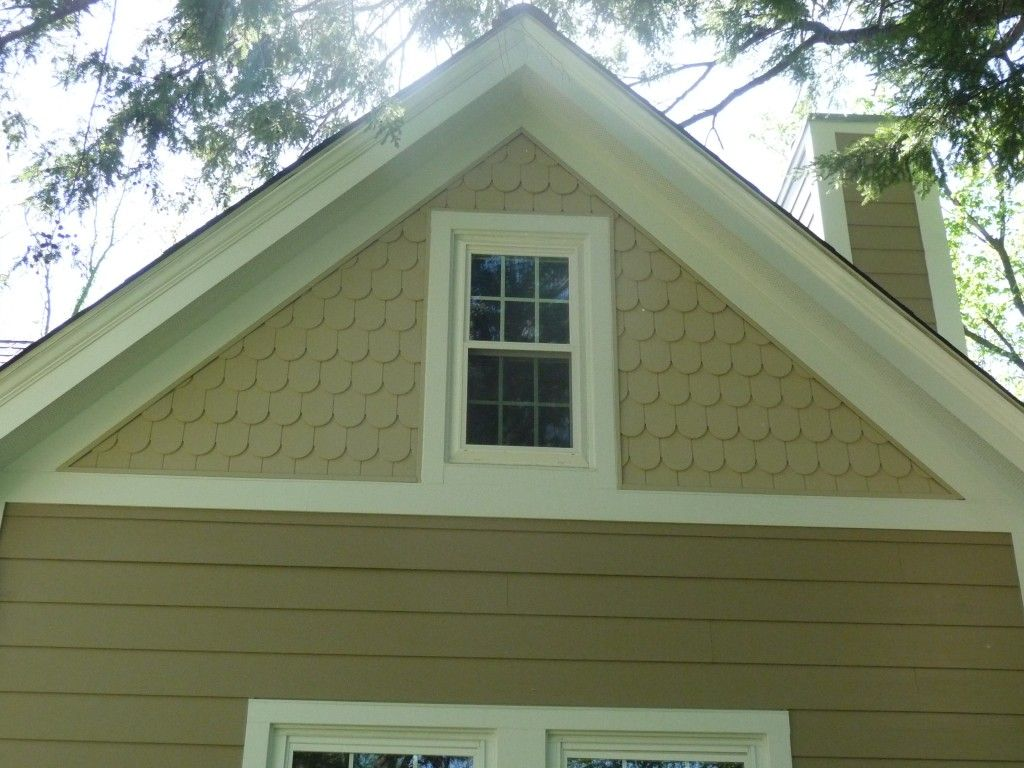 Fishscale Shingles James Hardie Khaki Brown Sidng Arctic White Trim Webster Groves Mo House Exterior Shingling Shingle Siding