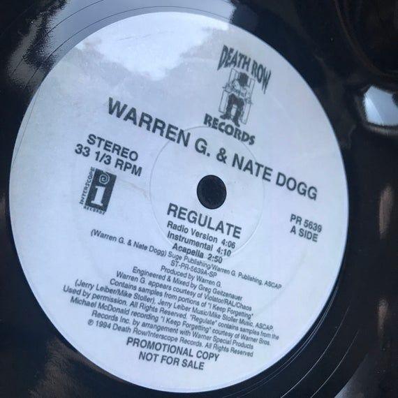 Record Bowl - Classic Hip Hop 12 Vinyl - Vintage 90's Hip Hop Vinyl Collectible - Warren G & Nate Dogg Regulate 12 #pictureplacemeant