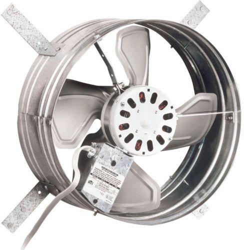Attic Ventilator Fan 1600 Cfm Power Gable Mount Heat Vent Hot Air Remover New Broan Attic Fan Whole House Fan