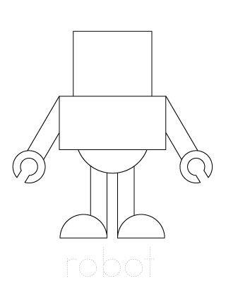 Draw A Robot At School Robot Craft Robot Theme